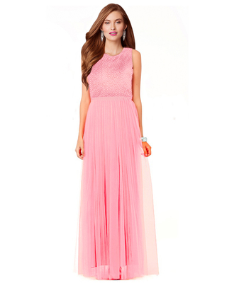 f2dc072463790 Styles Closet Light Pink net plain semi stitiched party wear gown - Styles  Closet - 950116