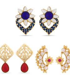Buy Beautiful Traditional Earrings Combo hoop online