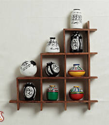 Buy Wall decor with miniature pots black-friday-deal-sale online