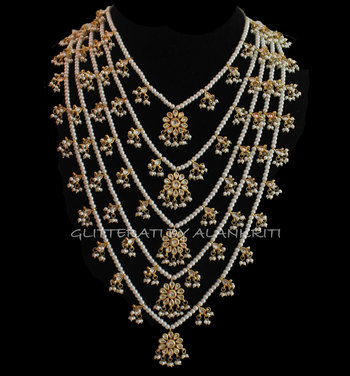 Buy Kundan Pearl Pachlada Rani Haar Necklace Online