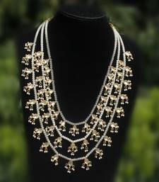 Buy Kundan and Pearl Teenlada rani haar necklace black-friday-deal-sale online