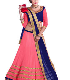 Buy Pink georgette embroidery and less work unstitched lehenga-choli lehenga-below-1000 online
