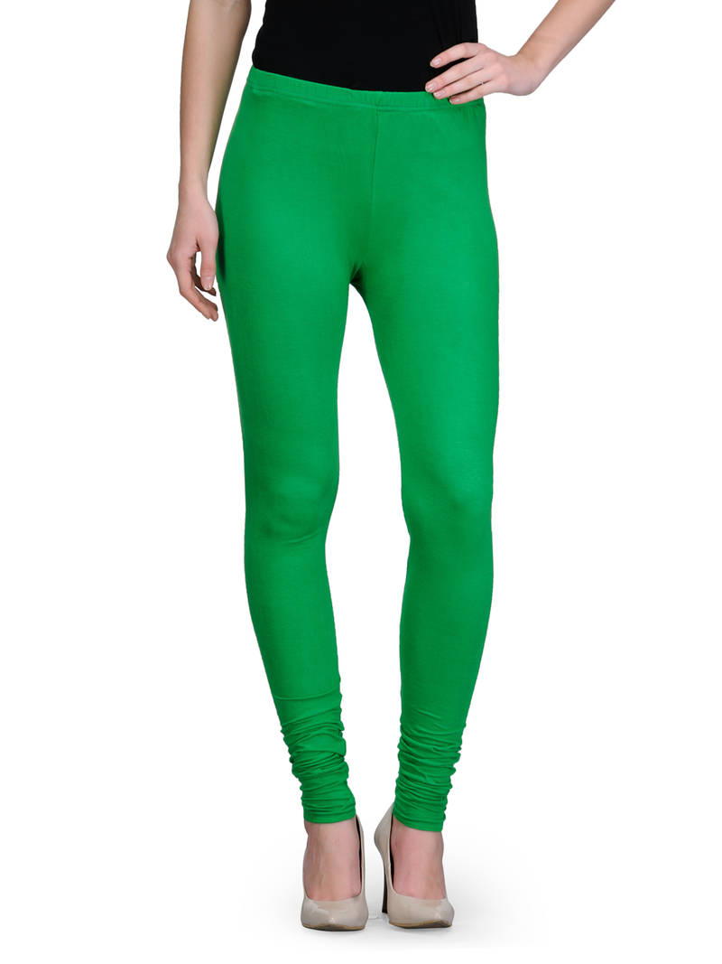 Buy Plain Green Leggings Online