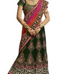 Buy Green net embroiderred bridal lehengas bridal-lehenga online