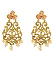 Buy Fancy New Design Pearl And Stone Antique Earring jhumka online