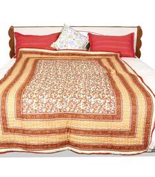Buy Orange printed cotton quilts quilt online