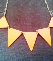 Buy Orange Neon Trace Necklace Necklace online