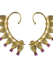 Buy Red Gold  Cuff Earring ear-cuff online
