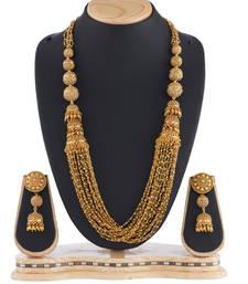Buy Traditional Gold Ball Necklace Women Jewellery necklace-set online