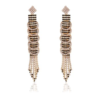 Stylish Adorable Gorgeous Designer Wear Earrings In Black For Occasion