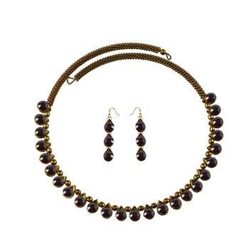 Stone Studded Necklace Hasli