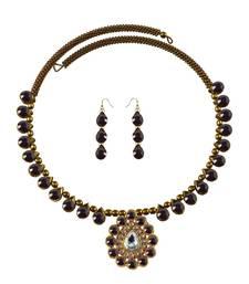 Buy Stone Studded Necklace Hasli necklace-set online