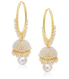 73 Off Gorgeous Gold Plated Pearl Jhumki For Women Jhumka Online