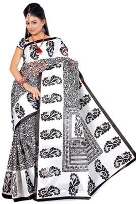 Pavecha's  Mangalgiri Cotton Blend Printed Saree MK650