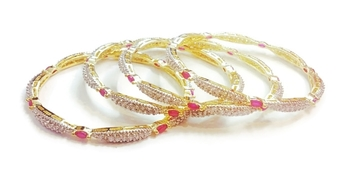 Divinique Ruby studded AD bangles
