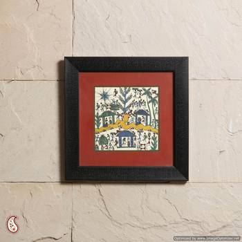 A Fascinating Frame With Warli Painting