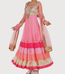 Pink color anarkali salwar kameez shop online