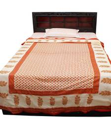 Buy multicolour printed Pure Cotton Quilts quilt online