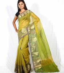 Buy Supernet cotton fancy  banarasi zari border saree supernet-saree online