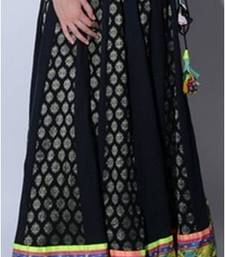 Buy Black cotton Jacquard long skirt skirt online