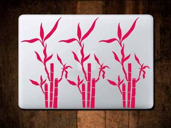 Bamboo laptop decal
