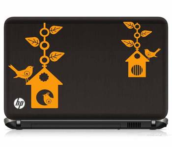 Bird house laptop decal
