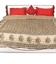 Buy Brown printed Cotton Quilts quilt online