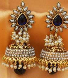 Buy Aashiqui 2 earrings,pretty polki with pearls jhumka jhumka online