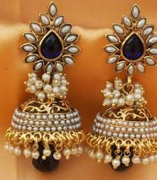 Buy Aashiqui 2 earrings,pretty polki with pearls jhumka jhumka online