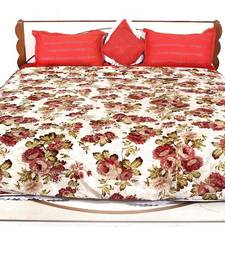 Buy Red printed Polyester Quilts quilt online