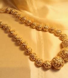 Gold Plated Zircon Jaipuri Beads Neckpiece