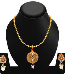 Buy White polki necklace sets necklace-set online