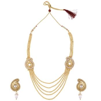White polki necklace sets