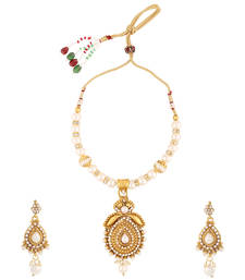 White polki necklace sets