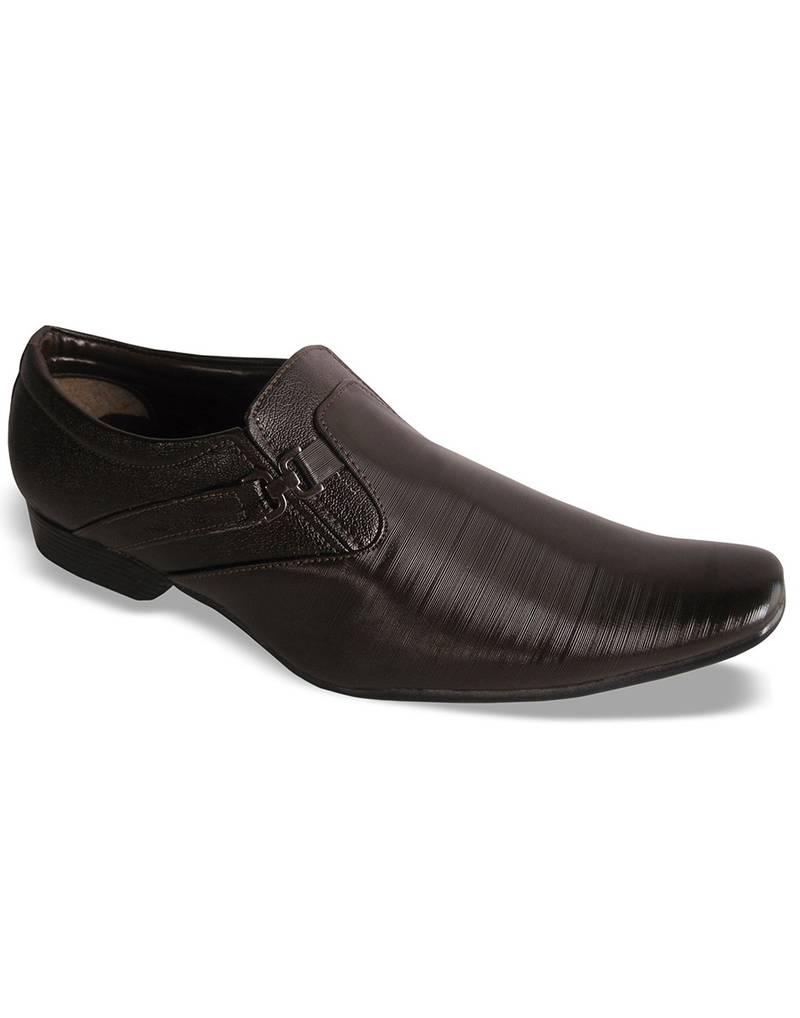 buy brown formal slip on shoes