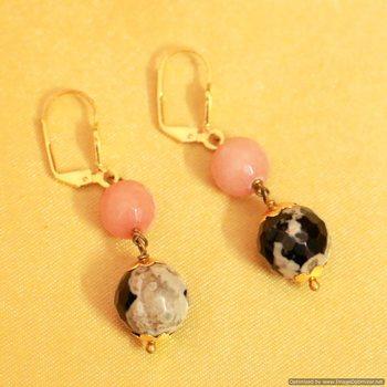 Semi Precious Dangling Earrings