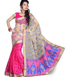 Buy multicolor woven tissue saree with blouse tissue-saree online