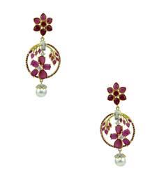 48d18ecf5 Ruby Red CZ AD American Diamond Dangle Earrings Jewellery for Women -  Orniza. Shop Now