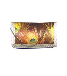 Buy Digital Mor Pankh Clutch (Blue) clutch online