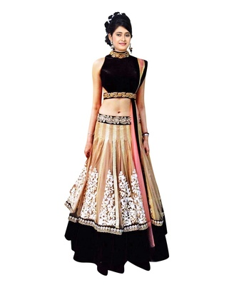 Chiku embroidered georgette unstitched lehenga choli