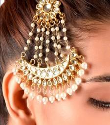 Buy The Kundan Jhoomar Paasa bridal-set online