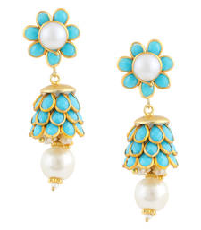 Buy Blue Gold Plated Paachi Jhumki jhumka online