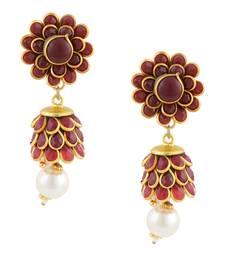 Buy Brown Gold Plated Paachi Jhumki jhumka online