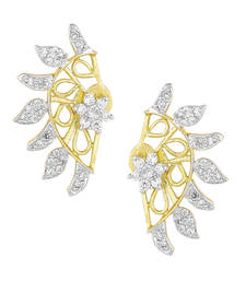 Buy White Gold Plated Cuff Earring stud online