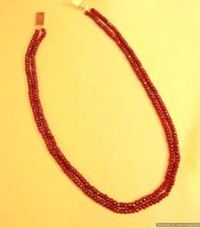 Ruby Semi Precious Fine necklace