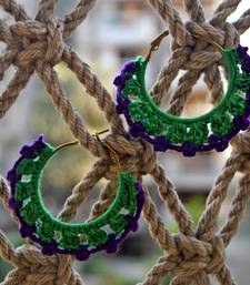 Buy green purple crochet hoops hoop online