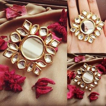 Stunning Kundan Ring