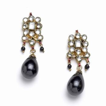 Authentic Pair Of Handcrafted Kundan Earrings-02