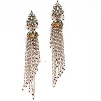 A Very Delicate Pair Of Handcrafted Kundan Earrings-07