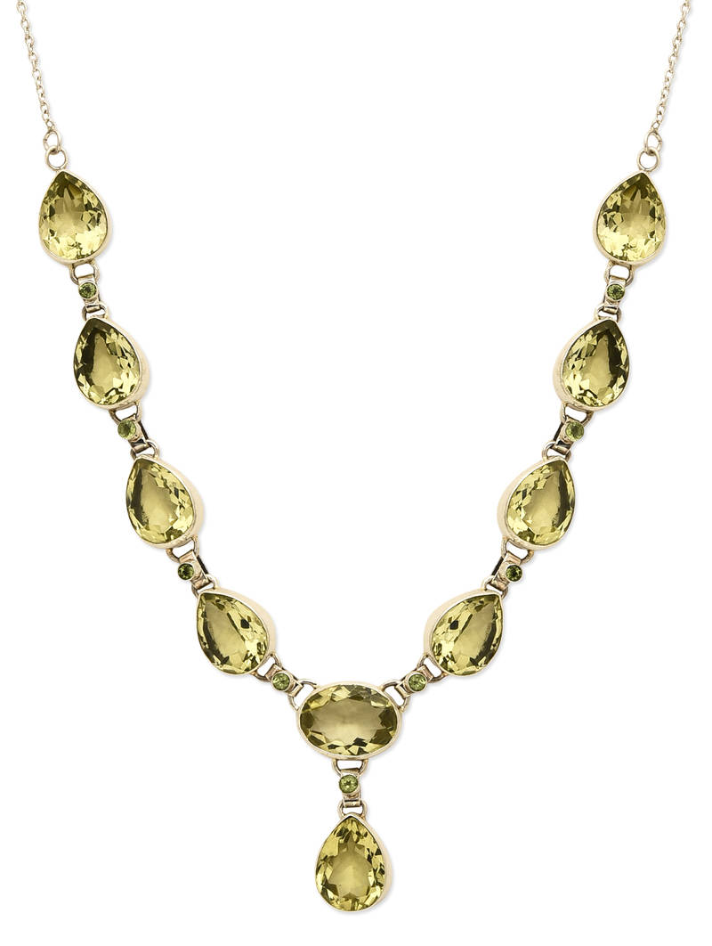 buy sterling silver necklace for olive green